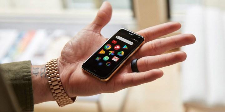 kleine-Palm-telefoon