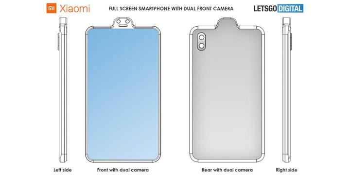 Xiaomi Patent Omgekeerde Notch