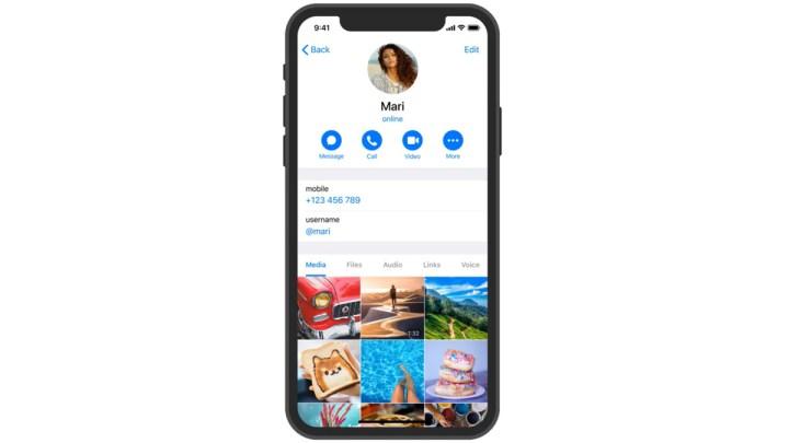 Telegram-videobellen
