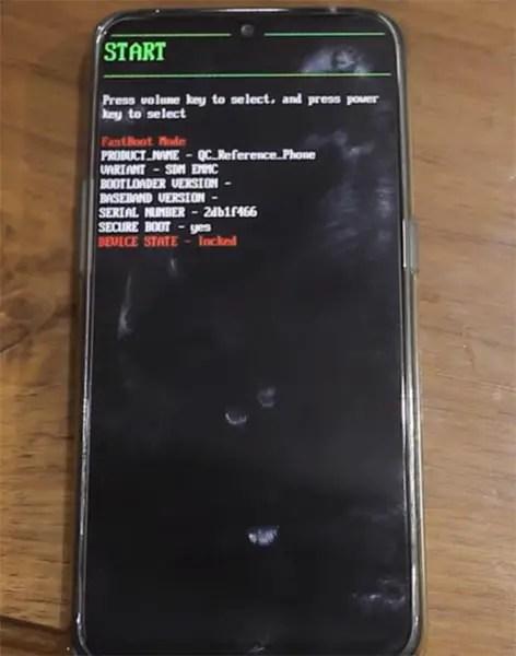 Layar Peringatan Oppo Realme 2 Pro Fastboot