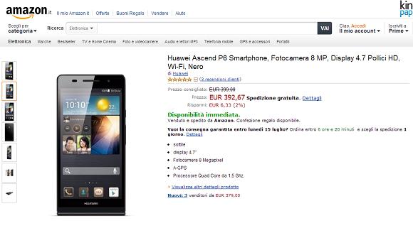 Huawei Ascend P6 Amazon.it