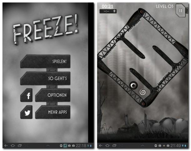 Freeze! - Die Flucht ist ein innovatives Geschicklichkeitsspiel in atmosphärischer Umgebung.