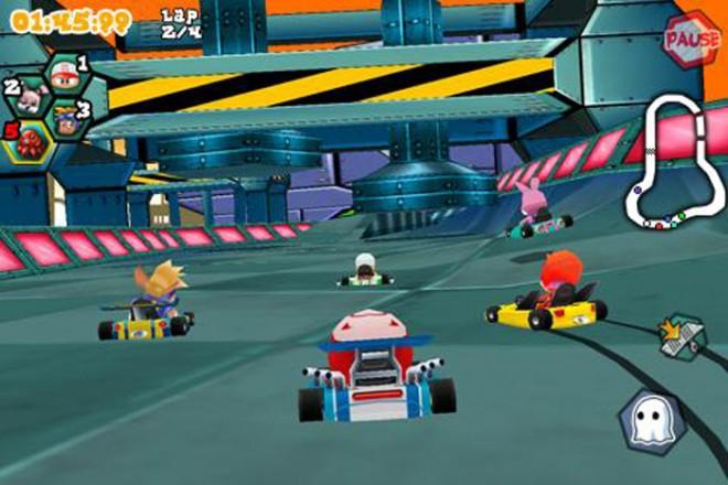 Krazy Kart Racing lehnt sich vom Spieldesign sehr an das Vorbild Mario Kart an.