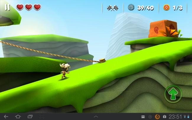 Du bist in diesem 3D-Side-Scroller ein kleiner Indianer-Junge, der in 30 Level Richtung Ziel läuft, hüpft und klettert.