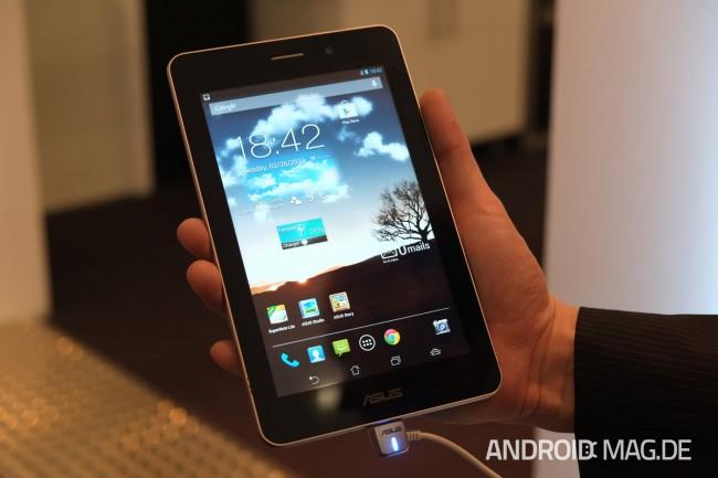 Das PhonePad von Asus ist das erste Tablet mit Telefonfunktion. Foto: androidmag.de