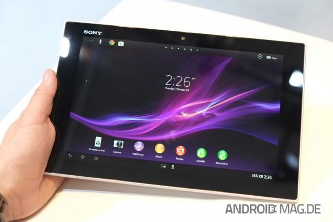 Das Xperia Tablet Z war zweifellos eines der Highlights am MWC. Foto: androidmag.de