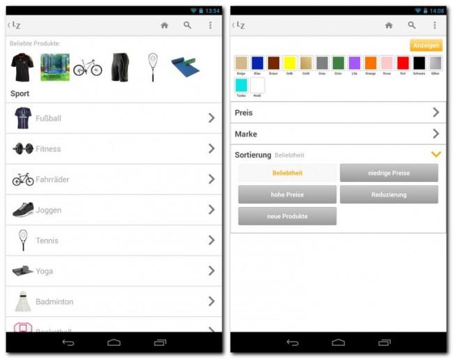 Die LadenZeile.de-App erleichtert dir das Stöbern und Einkaufen in Hunderten von Online-Shops mit insgesamt über 17 Millionen Produkten.