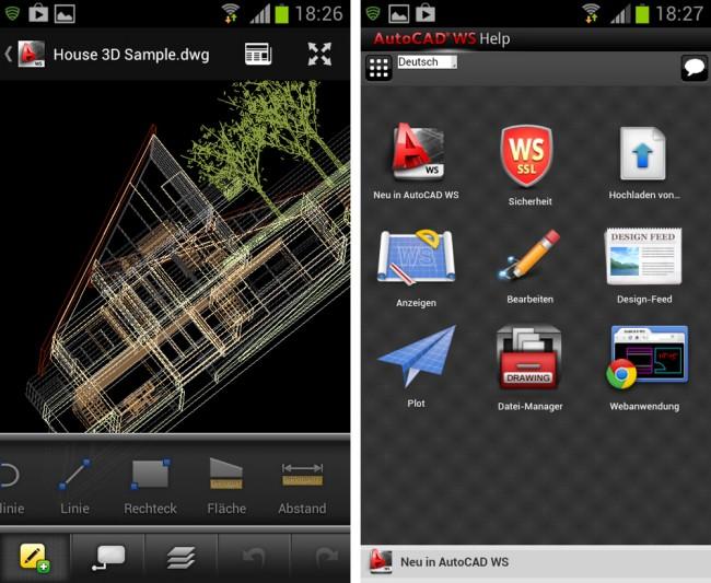 Mit Autocad WS lassen sich Konstruktionszeichnungen auch auf dem Smarpthone betrachten.