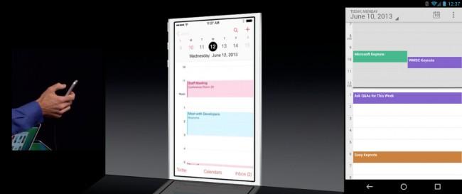 Auch die Kalenderanwendung sieht dem Android Pendant relativ ähnlich. Foto: Droidlife.com.