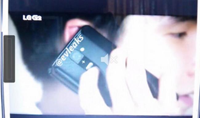 Die Lautstärkewippe des LG G2 soll sich auf der Rückseite des Gerätes befinden. Foto: @eveleaks.