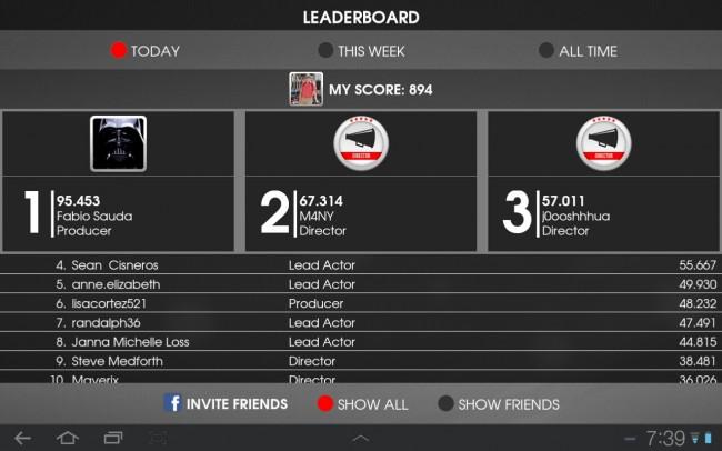 Im Leaderboard kannst du dir die High Scores anderer Spieler ansehen.