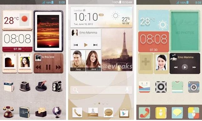 Oberfläche des Huawei Ascend P6 / Bildquelle: Evleaks