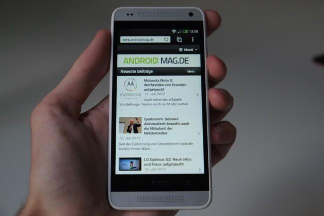 Das HTC One mini bekommt mit Android 4.3 auch die neue Sense Oberfläche.