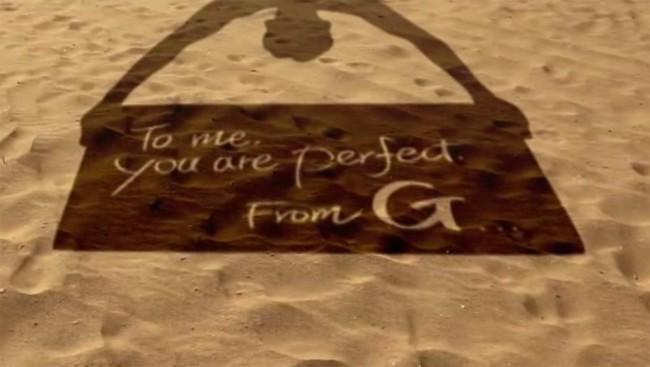 Nutzer auf der Ganzen Welt können eine Liebesbotschaft über LG's Onlinekanäle teilen. Foto: Youtube.