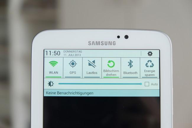 Das Galaxy Tab 3 7.0 läuft noch mit Android 4.1, Updates gelten aber als gesichert.