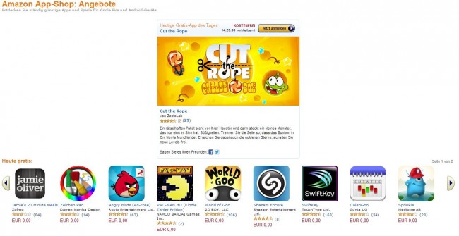 Im heutigen App-Special des Amazon App Shops befinden sich 11 Top Apps die vom Nutzer kostenlos geladen werden können.