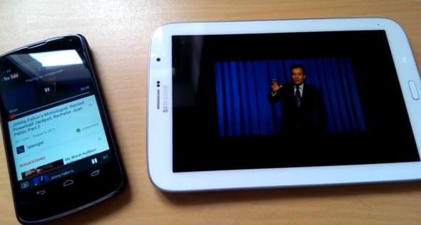 Ermöglicht das Streaming auf andere Android-Geräte: Cheapcast. (Foto: mobiflip)