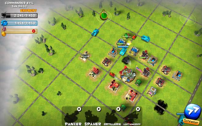 Command&Conquer Fans werden in diesem Spiel ähnlichkeiten zum Computerspielklassiger feststellen.