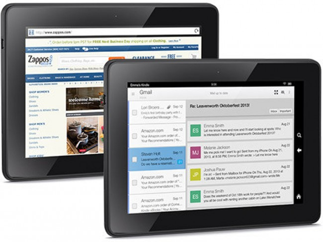 Das Kindle Fire HDX 8.9 kommt in einer WLAN und einer LTE Variante auf den Markt. Foto: Amazon.