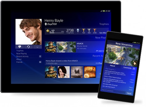 Die Companion-App für die PS4 soll Smartphones und Tablets mit der PS4 verbinden. (Bild: Sony)