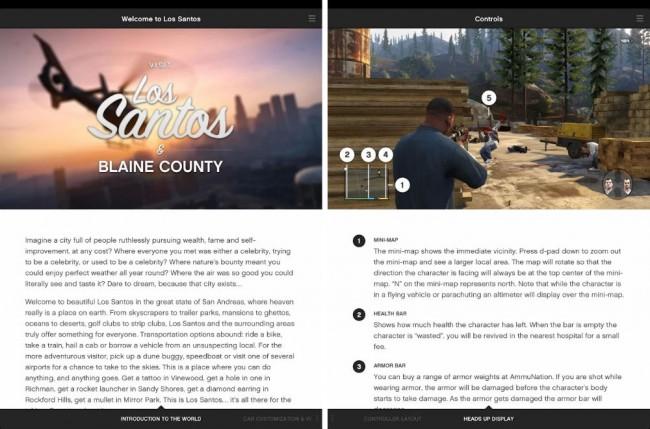 Die Anleitungs-App zu GTA V erklärt die Steuerung des Spiels und gibt Tipps für das vorankommen.