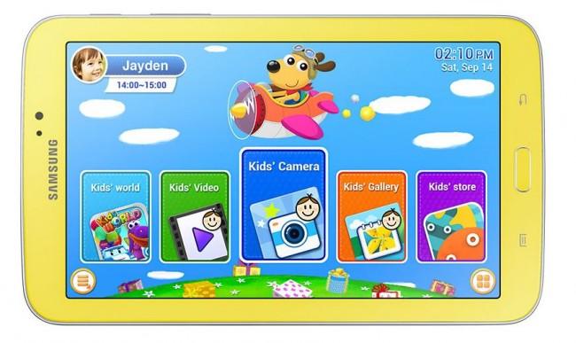 Das Galaxy Tab 3 Kids besitzt eine speziell für Kinder angepasste Oberfläche. Foto: Samsung.