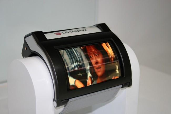 4 Zoll großes flexibles AMOLED-Display von LG (Foto: LG)