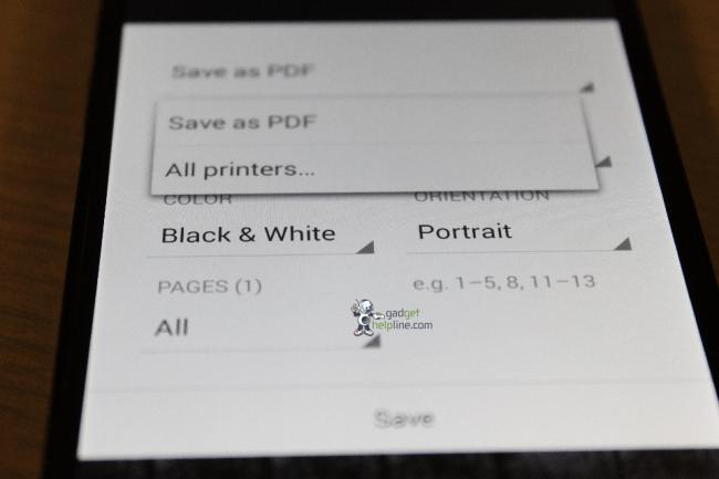 Android 4.4 bringt Google Cloud Print einige neue Tricks bei