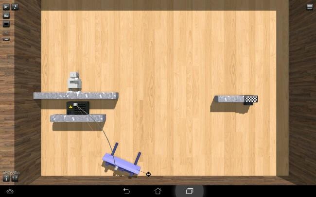 Mit Hilfe von unterschiedlichen Hilfsmitteln und Materialien sollst du dem Roboter helfen, das Ziel zu erreichen.