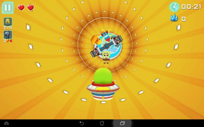 In dem Spiel kommen auch bekannte Figuren wie Spongebob oder die Minions vor.