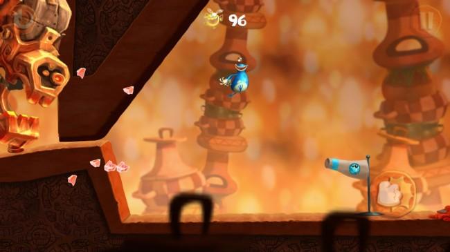 Raymans Faust kannst du erst in einem höheren Level freischalten.