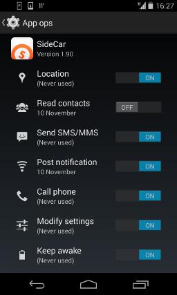 App Ops erlaubt dir die Analyse des Verhaltens der am Telefon befindlichen Programme (Bildquelle: EFF)