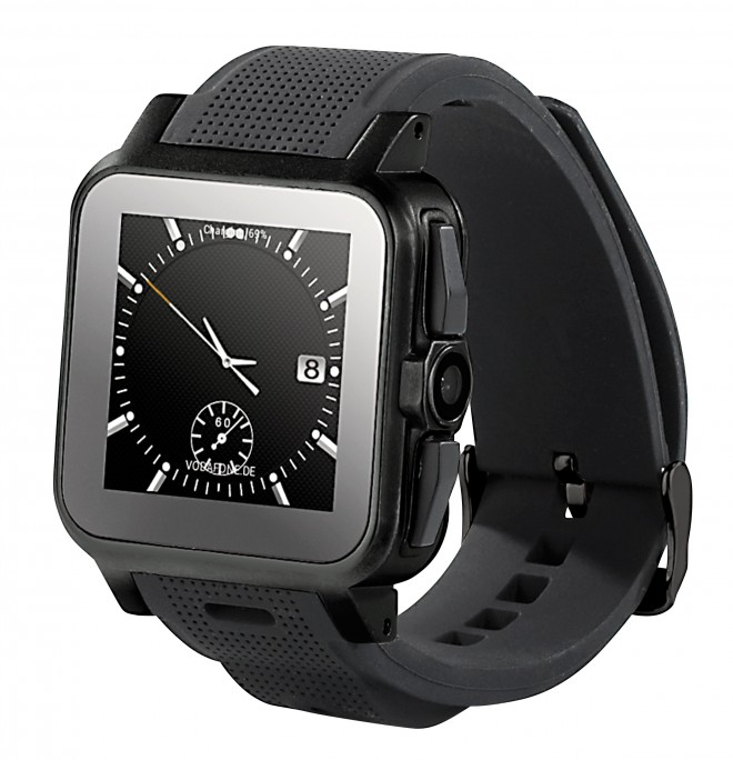 """simvalley MOBILE 1.5""""-Smartwatch AW-414.Go mit Android4, BT, WiFi, Cam"""