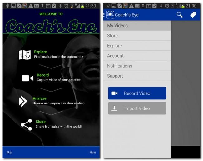 Du kannst dir entweder Bilder und Videos von anderen Nutzern ansehen oder ein neues Video aufzeichnen.