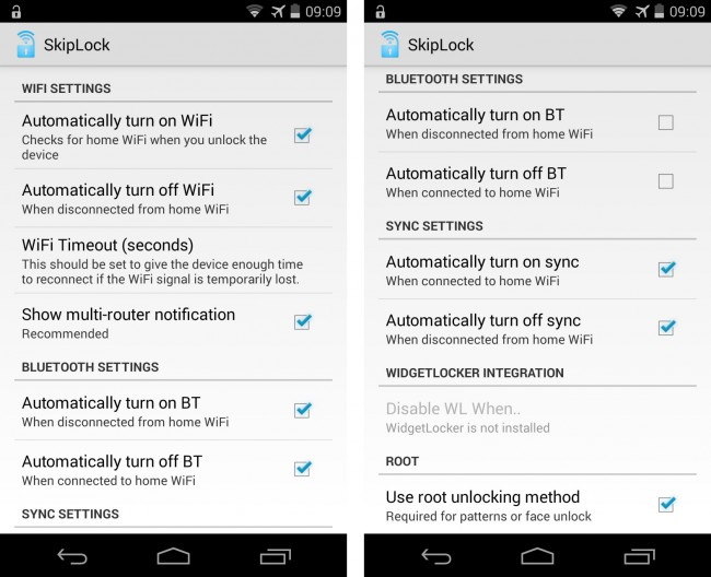 Wenn du möchtest, kümmert sich die App auch darum, automatisch WLAN, Bluetooth und die Datensynchronisation einzuschalten.
