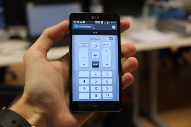 Praktisch: Dank der Remote-Funktion kommt das  L9 II auch als TV- Fernbedienung zum Einsatz.