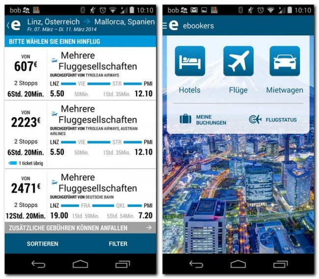 Ebookers Flug Hotel Mietwagen Androidmag