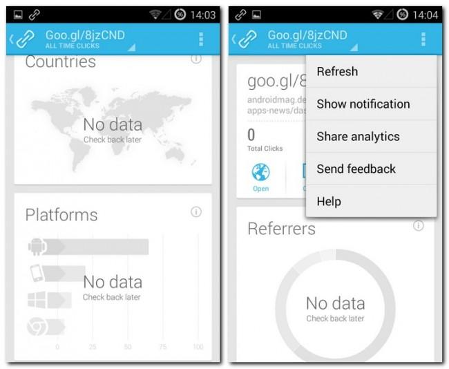 Durch die Verbindung mit Google Analytics lässt sich aus den generierten Links viel über die Besucher ablesen.