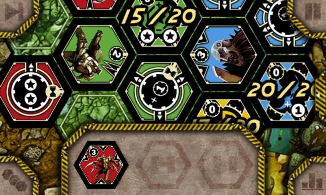 Im ungewöhnlichen Brettspiel Neuroshima Hex kämpfen vier Fraktionen um eine postapokalyptische Welt.