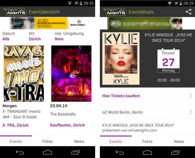 Die App Virtualnights liefert dir Informationen über Partys, Feste und Konzerte in mehr als 80 deutschen Städten – sowie in einigen österreichischen und Schweizer Städten.