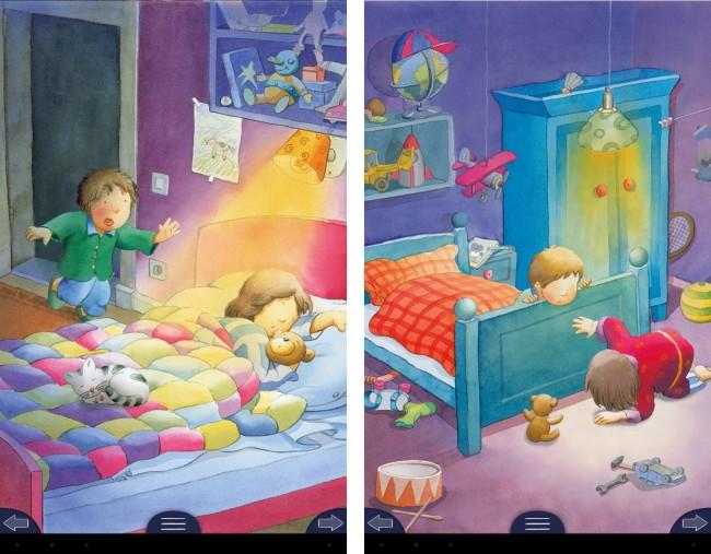 Mit Hilfe von Interaktiven Elementen und einer Menge Features können die Kleinen die Traumwelt erkunden.
