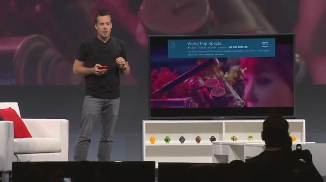 Mit Hilfe einer App kann Android TV bedient werden.