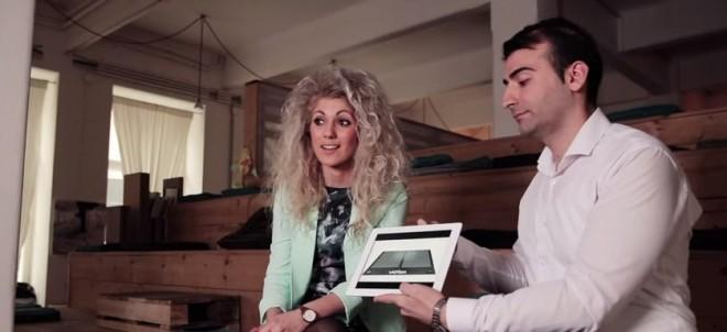 Die beiden Unternehmensgründer Kristina Tsvetanova und Slavi Slavev bei der Vorstellung ihrer Idee. (Bild: SIA Austria/Youtube/Screenshot)