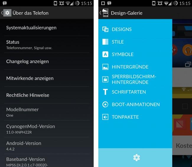 Dank CM11S kannst du aus unterschiedlichen Themes wählen und so das Aussehen deiner Android-Version individuell anpassen.