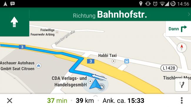 Dank Google Maps ist die Navigation mit dem Smartphone kein Problem mehr.
