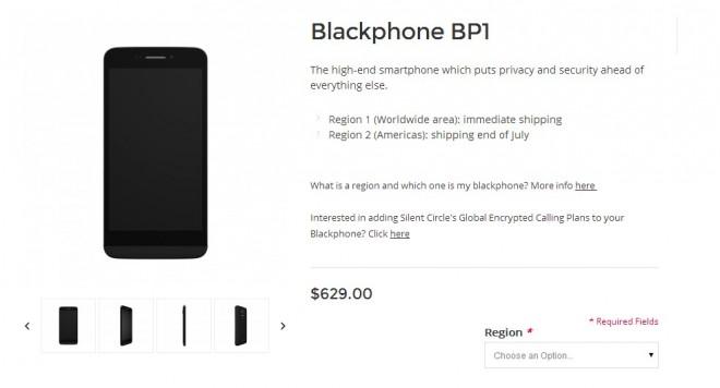 Ab sofort lieferbar: Das angeblich abhörsichere Blackphone. (Bild: Blackphone/Screenshot)