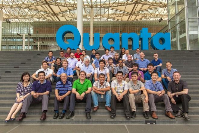 Das Entwickler-Team des Project Ara zu Besuch beim Hardware-Partner Quanta, in Taipei.