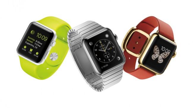 Die AppleWatch gibt es in drei Ausfürhungen und in jeweils zwei unterschiedlichen Größen. (Foto: Apple)