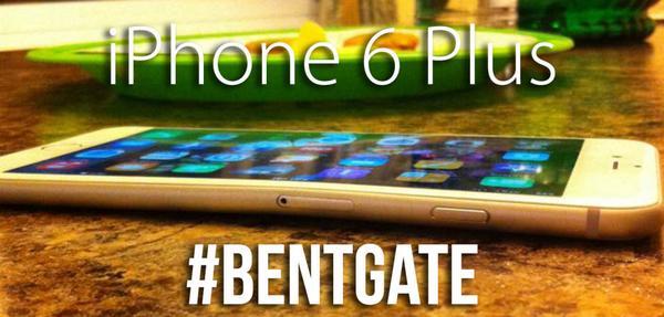 Die verbogenen iPhone 6 Plus werden unter dem Hashtag #bentgate auf Twitter gepostet. (Foto: Twitter)
