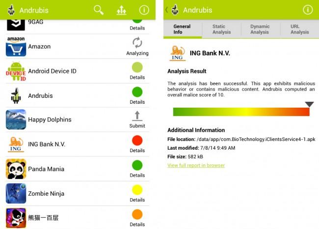 """Mit Hilfe der App """"Andrubis"""" kannst du schnell feststellen welche Apps schädlich sind und welche du ohne Bedenken nutzen kannst."""